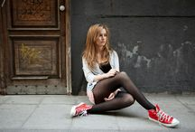 Pantyhose and sneakers