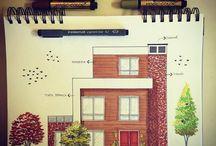 desenhos de casas