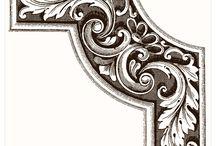 Орнаменты, уголки, завитки, узоры
