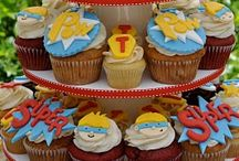 Super Heros / Cupcake Wrappers & Fun ideas for a Super Hero Party! / by Bella Cupcake Couture