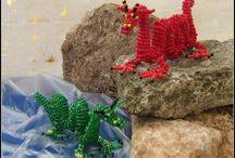 Perlenkunst-Eigenkreationen: Fantasy & Drachen / Meine Eigenkreationen im Bereich der Perlenkunst - Fantasyfiguren, Drachen, ...