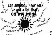 Lyrics / by Hailey Lingle