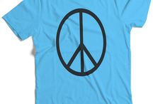 Men's Peace T-Shirts / This is our peace clothing line for men.