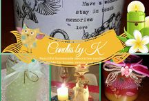 Candles by K / Beautiful homemade decorative candles.  Suitable for homes, events and gifts.Photos, Personal messages and Quotes candles.