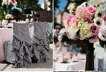 A Bridal Shower  / A's Bridal Shower Inspiration - Damask, Black, White, Shades of Pink and Chandeliers / by Angie.