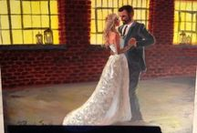 Live Wedding Paintings / Painting the bride and groom during their wedding reception. For more info, go to my website: iamnotmaggie.com