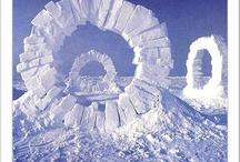 Snow art geometric