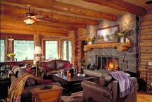 Log Home Interiors / Lifeline Log Home Stain by Perma-Chink Systems