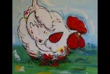Chicken and Rooster-Art