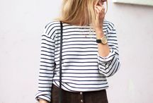 Striped Fashion Inspiration / Striped fashion inspiration and style ideas for a chic statement.