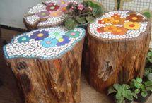 troncos decorados