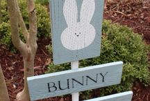 Easter wood signs