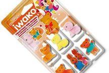 Kawaii Erasers / Cute Kawaii Erasers, Iwako