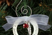 Ornaments / Christmas and memorial ornaments that are hand stamped