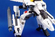 Lego Robotech / Mechas build with Lego bricks