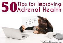 Adrenal Health / Feeling tired and run down? It may be your adrenals! Learn how to heal your adrenals and give them TLC with these great resources!