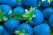 Delicious and blue