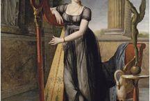 Regency portraits with harp