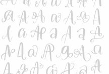 LETTERS / CALLIGRAPHY
