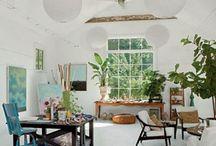 home studio / Home office home art studio working space