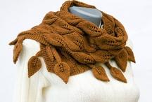 листья шарф