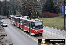 Prag - Straßenbahn Tatra KT8D5 / Sie sehen hier eine Auswahl meiner Fotos, mehr davon finden Sie auf meiner Internetseite www.europa-fotografiert.de.