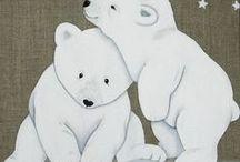 Aquarelles ours