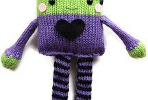 knitting toys / Brinquedos e bichinhos de tricô