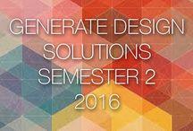 Generate Design Solutions: Sem 2-2016