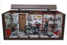 Diorama Oficina Moto BMW GS 1200