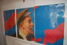 Lenin in Soviet political art / Soviet Propaganda featuring the image of Lenin