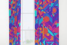 Window Curtains! Beautiful, High Quality, Pop art, Bold, Colorful Graphic Designs! / Curtains for your home. Bright, bold, creative, colorful works of art with a graphic design mind. Designs are perfect for a bright POP on your wall. Great focal point for any space. Amazing graphic prints with artist quality. Hand lettered art, colorful illustrations, eye catching prints and patterns made with high quality! Cheap and affordable framed wall art! Gift Ideas for Christmas, the Holidays, Birthdays, or any event!