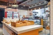 Projetos comerciais e espaços gastronômicos (Vertentes.arq) / Imagens de projetos de autoria do escritório Vertentes para lojas e empreendimentos gastronômicos: restaurantes, cafés, padarias, mercados e afins...