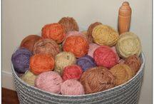Plantefarging - dying yarn