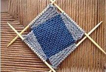 пледы и коврики вязанные
