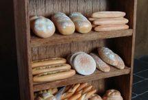minyatür ekmek standi