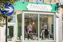 The Parlour London / Our Lovely Little Shop! London's favourite boutique blow-dry & bohemian braid bar www.theparlourlondon.com