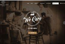 Vintage linen website / Vintage website design