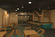 furniture set for cafe