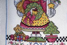 my  angels afghan - design  joan elliot / calendar of angels by joan elliot