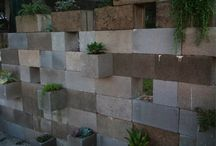 Home - Cinder Block Wall Ideas / Things to do with our cinder block walls.