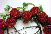 bead flowers/leaves /