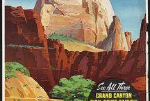 vintage adventures / Vintage postcards from National Parks, etc.