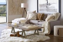 Hygge Inspiration | Home & Decor / The Danish art of Hygge in decorating the home, making it cosy, warm and inviting, with lots of texture, sheepskin and think blankets and candle light.
