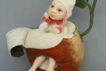 Art dolls by Jelena Dashunina-Naidjonok