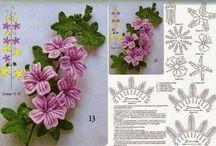 kwiatki szydelko