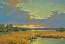 mooie geschildere landschappen