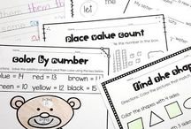 First Grade / Ideas, resources, games and activities for teaching first grade. Math, literacy and more! #firstgrade #iteach1st #learning #math #literacy