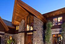 Дома модерн и камень