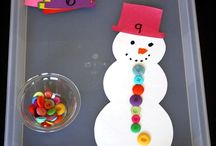 Adorable counting snowman game! Helps with number
